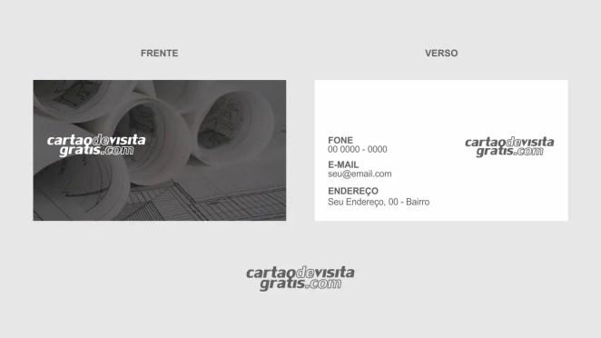 download modelo de cartão de visita arquiteto vetor