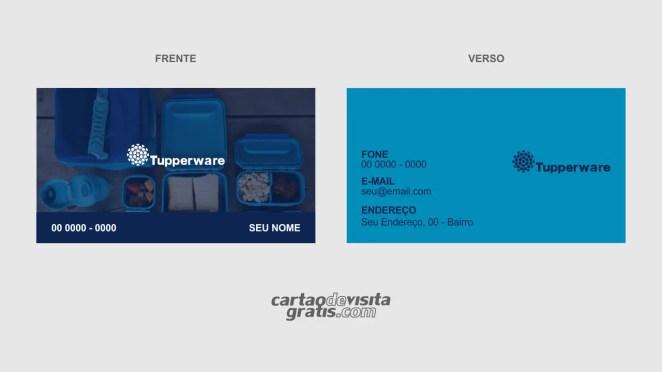 download modelo de cartão de visita tupperware vetor