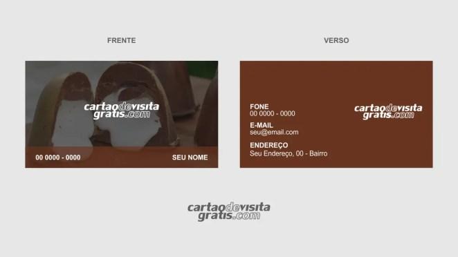 download modelo de cartão de visita trufas de chocolate vetor