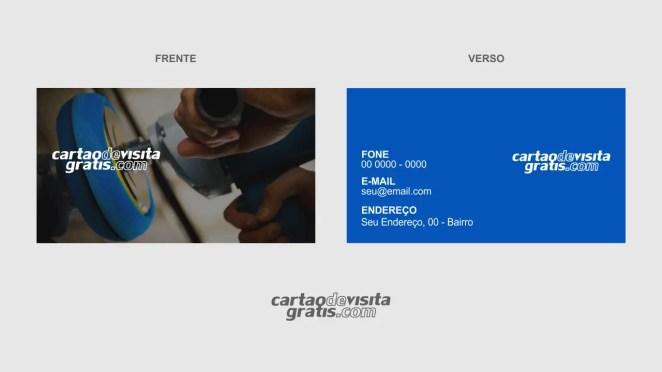 download modelo de cartão de visita lanternagem e pintura vetor