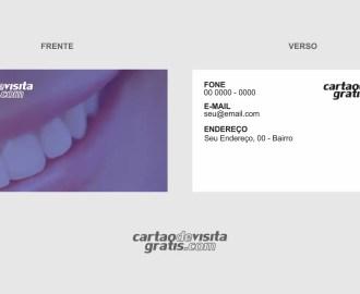 modelo de cartão de visita dentista