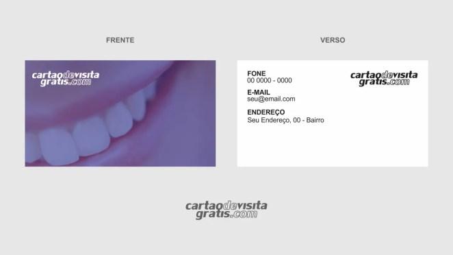 download modelo de cartão de visita dentista vetor