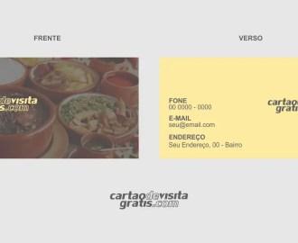 modelo de cartão de visita comida caseira