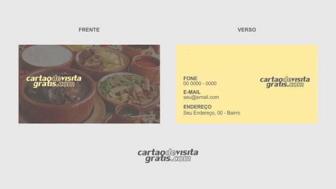 download modelo de cartão de visita comida caseira vetor