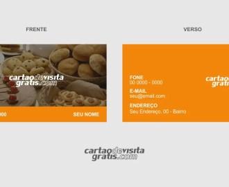 modelo de cartão de visita padaria