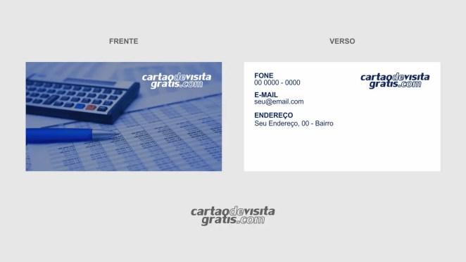 download modelo de cartão de visita contabilidade vetor