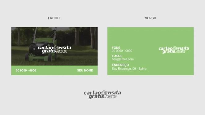download modelo de cartão de visita jardinagem vetor