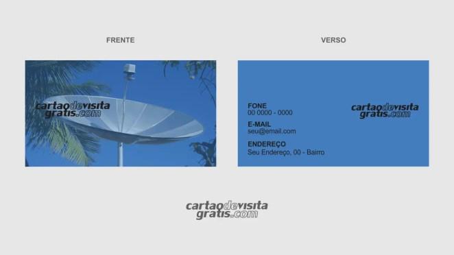 download modelo de cartão de visita instalador de antenas vetor