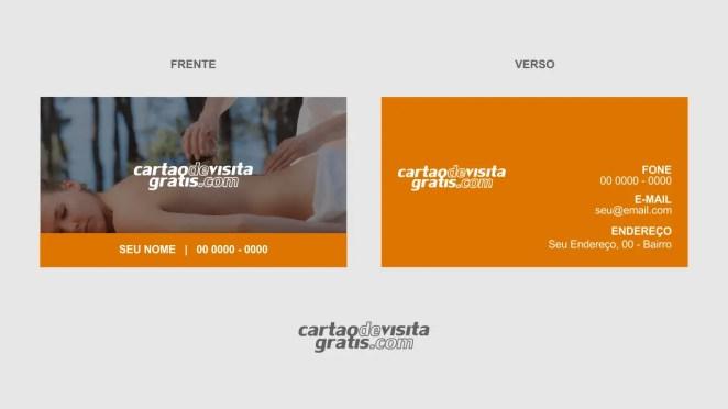 download modelo de cartão de visita massagem vetor