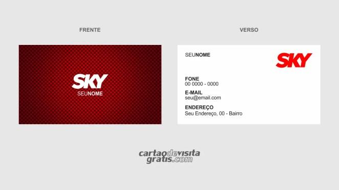 download modelo de cartão de visita sky vetor