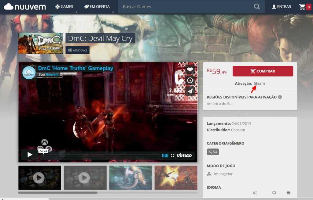 Nuuvem DmC Devil May Cry PC