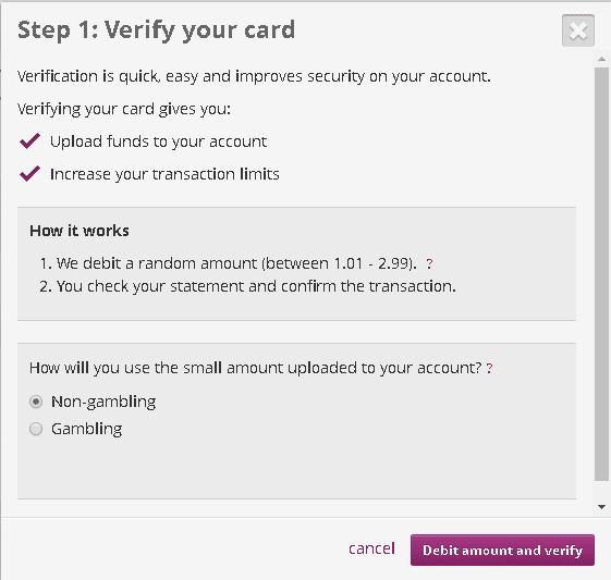 Adicionar e verificar cartão de credito na Skrill 5