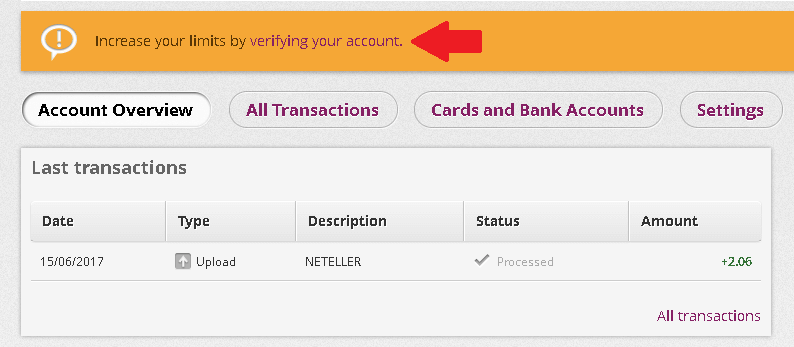 Verificar sua conta na Skrill 1