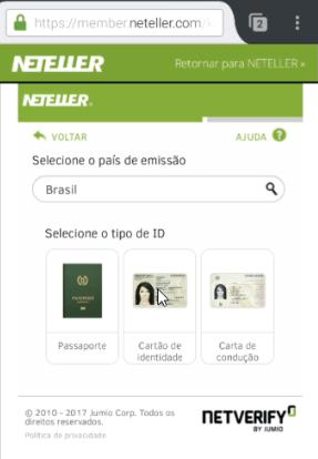 Verificação da conta NETELLER 6
