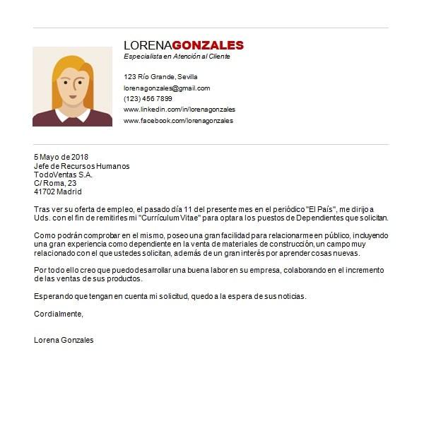 Ejemplo De Una Carta De Presentacion