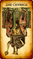 El Carro invertido. Tarot