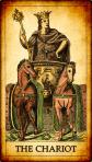 El Carro Tarot y el péndulo de cuarzo jaspeado