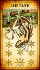 La Estrella invertida Tarot