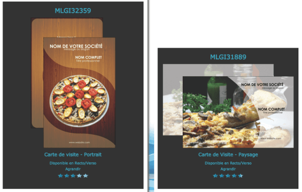 Modele Exemple Carte De Visite Pizzeria Pizza Graphique