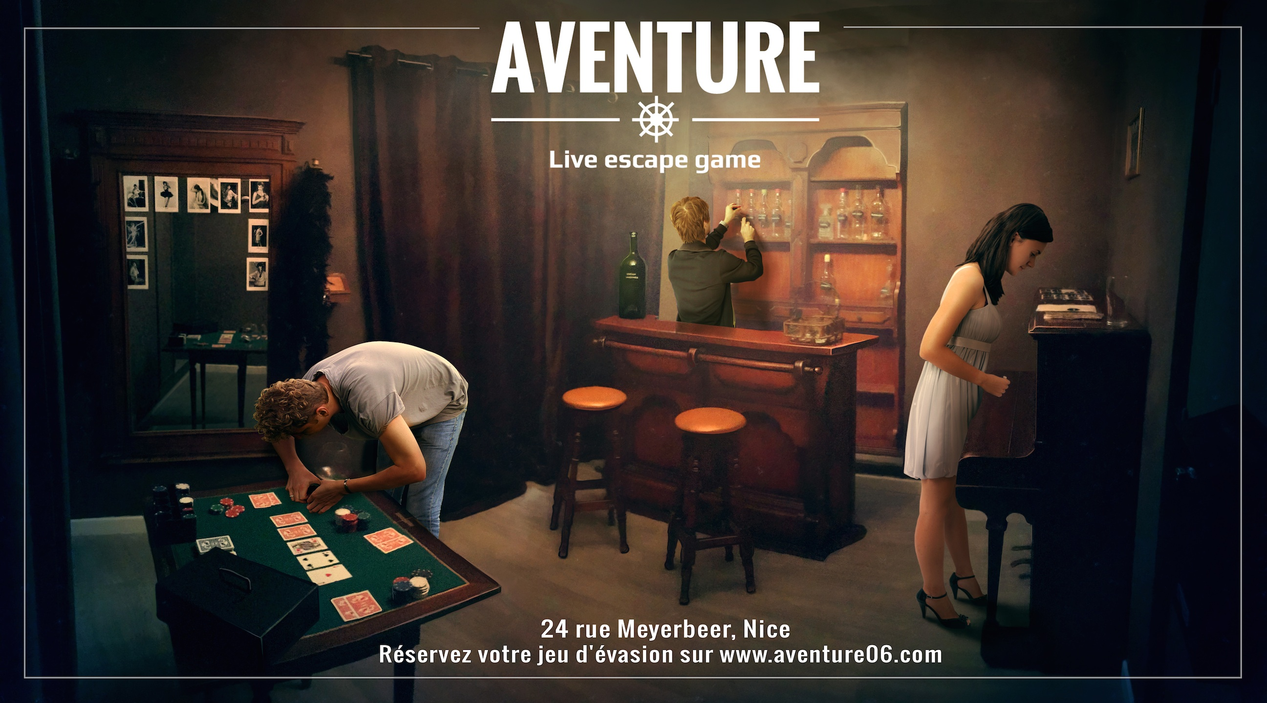 aventure nice la carte des escape game. Black Bedroom Furniture Sets. Home Design Ideas