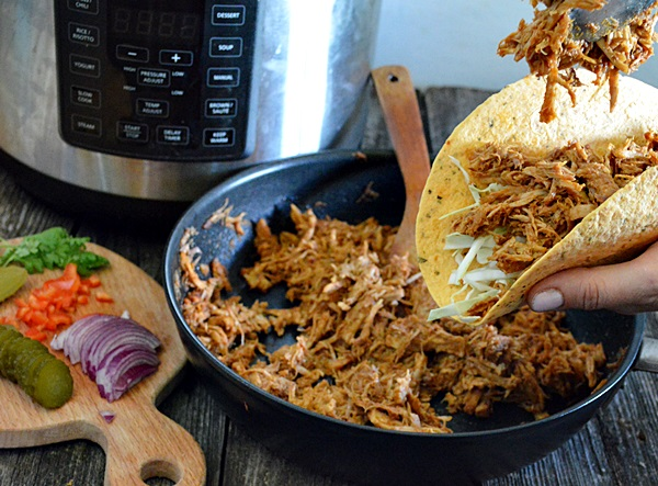 Pulled pork la Multicooker Crock Pot Express