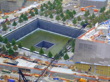 WTC Fountain (footprint of pre-9/11 WTC Tower)