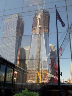 Reflection of WTC on our hotel