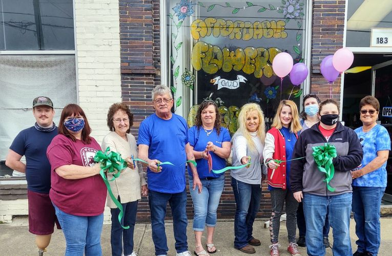 Affordable Flowers ribbon cutting