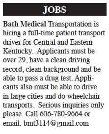 Job Posting: Bath Medical Transportation
