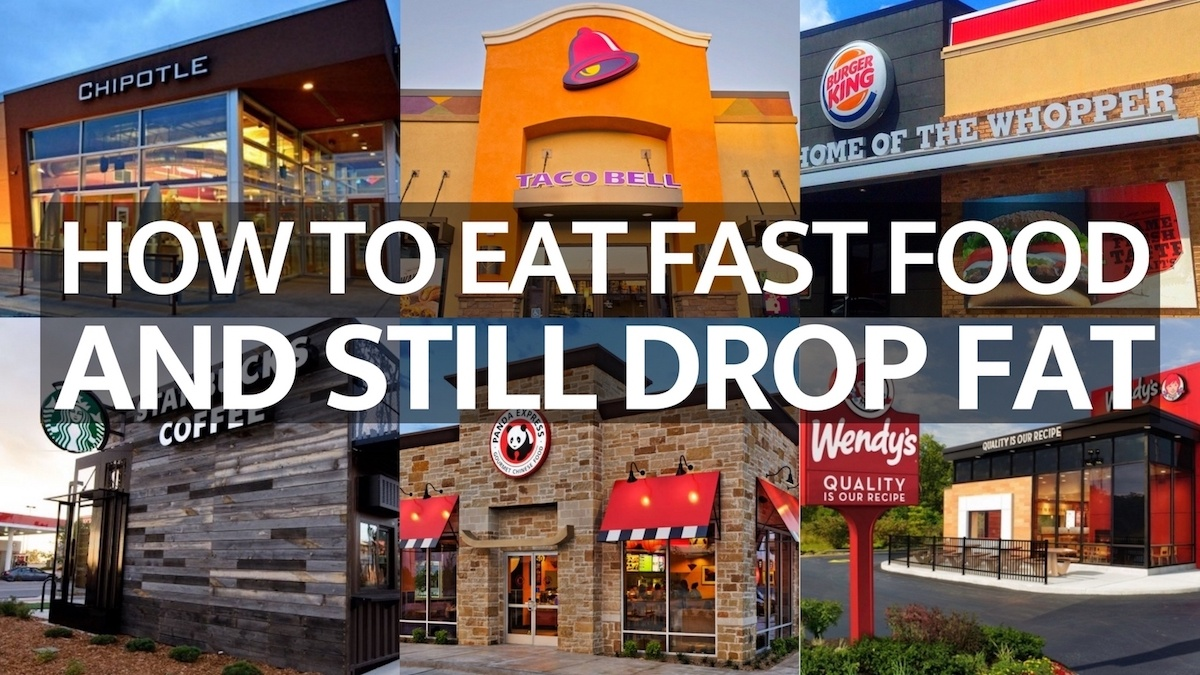 lose fat eating fast food