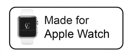 Apple Watch Pink Alligator Grain 24K Gold Plated Apple