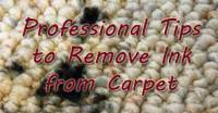Removing Ink from Carpet | Carter's Carpet Restoration