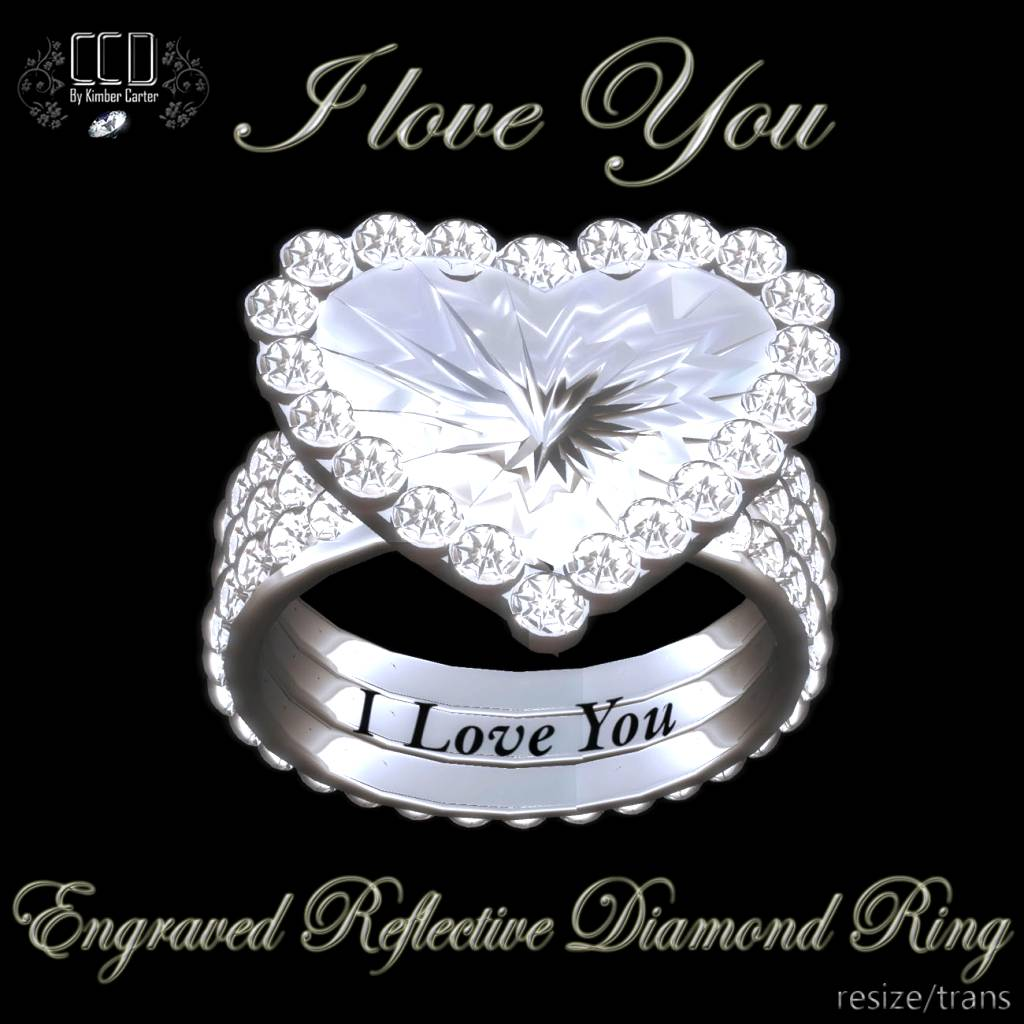 Valentines Day Ring I Love You CCD Carters Custom