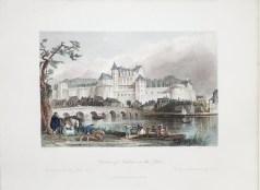Gravure ancienne du Château d'Amboise