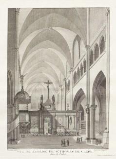 Gravure ancienne de Crepy en Valois