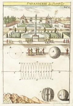 Gravure ancienne du Château de Chantilly