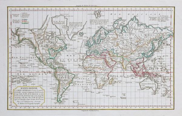 Carte ancienne - Mappemonde