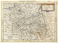 Carte ancienne - Picardie et Champagne