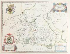 Carte géographique ancienne de Cambrai