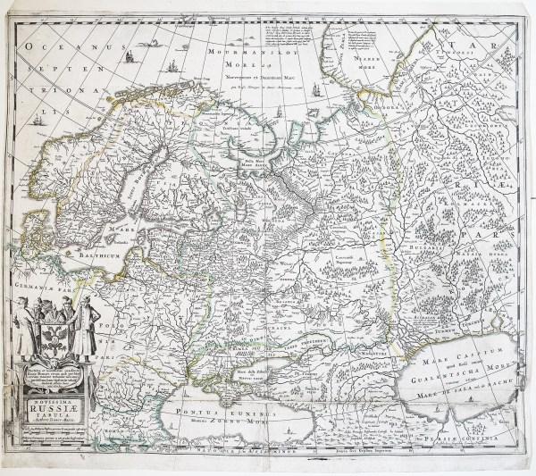 Original antique map Novissima Russiae - Оригинальная антикварная карта Новиссима Россия