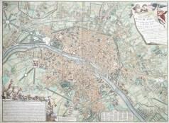 Plan ancien de Paris sous Louis XV