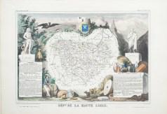 Carte géographique ancienne du département de la Haute Loire