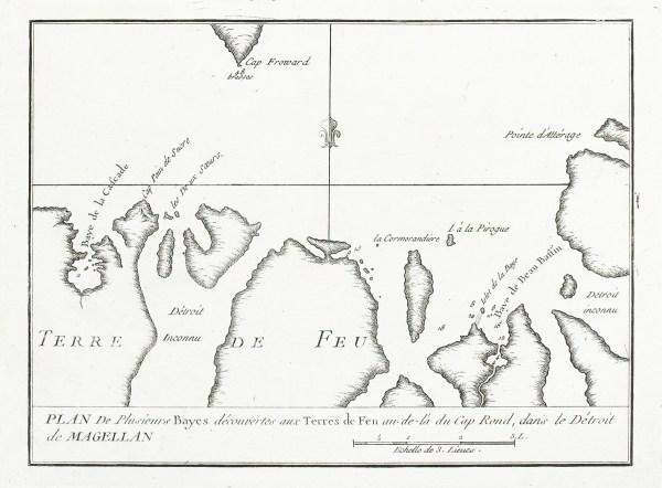 Détroit de Magellan - Original antique engraving