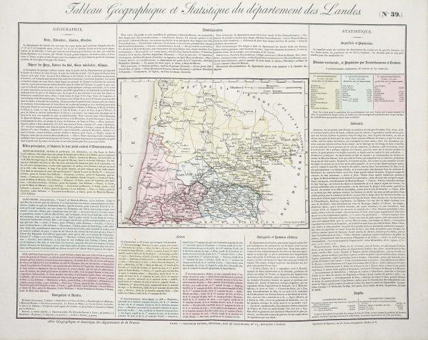 Carte originale des Landes