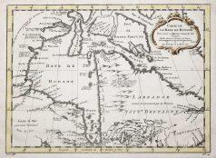 Carte géographique ancienne de la Baie d'Hudson