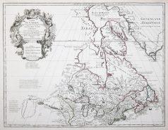 Carte géographique ancienne du Canada - Antique map