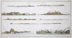 Colline de la Table - Mont Edgeeumbe - Ile de Kaye - Antique print