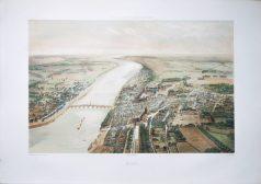 Gravure ancienne - Blois - Voyage Aérien en France