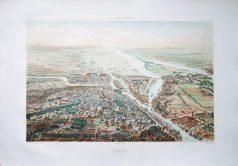 Gravure ancienne - Nantes - Voyage Aérien en France