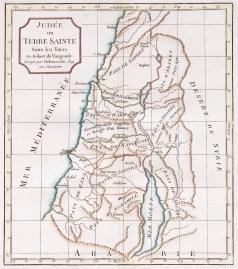 Carte géographique ancienne - Judée ou Terre Sainte - Antique map